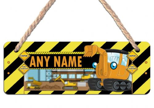 Personalised DIGGER Hanging Sign Plaque N13